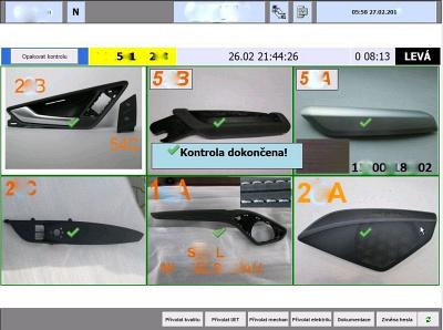 Obr. 2: Kontrola správnosti použitých dílů naterminálu operátora