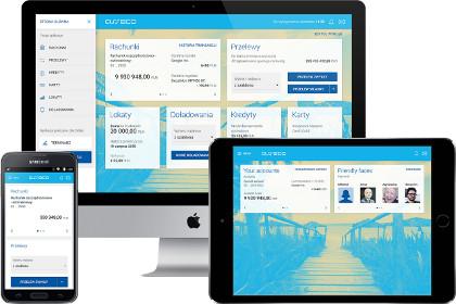 Responsivní design nové platformy internetového a mobilního bankovnictví