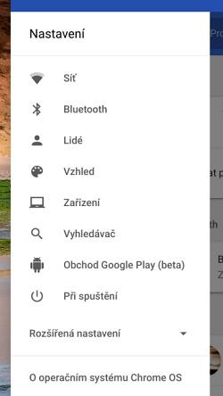 Díky několika trikům se v nastavení Chrome OS se objevila položka Google Play (beta)