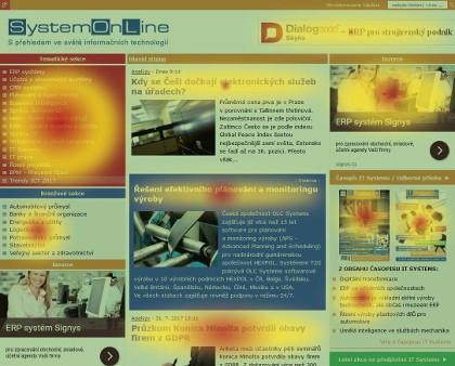 Heat mapy vám ukáží, kam uživatelé klikají.