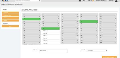 LOKIA WMS Výběr přihrádek k průběžné inventure + úkoly na skladníka
