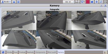 Obr. 6: Dokladování kvality výrobků fotodokumentací na kamerovém pracovišti