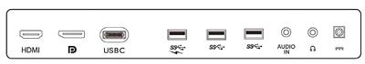 Bohatá konektivita monitoru