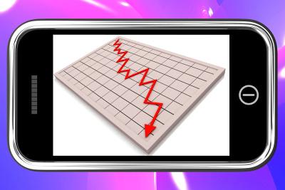 smartphone - pokles prodejů
