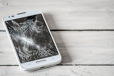 smartphone, prasklina