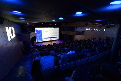 Obr. 1: Představení nové verze Informačního systému K2 Luna se už tradičně odehrálo v prostorách brněnského divadla Reduta.