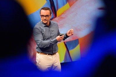 Obr. 2: Ředitel vývoje K2 Tomáš Szkandera prezentuje možnosti webové verze Informačního systému K2.