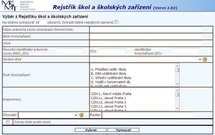 Rejstřík škol a školských zařízení