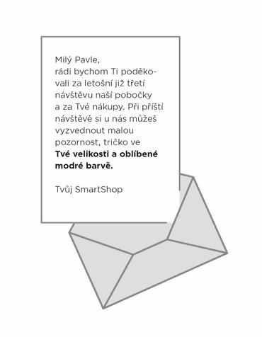 Obr 2: Ukázka personalizované komunikace