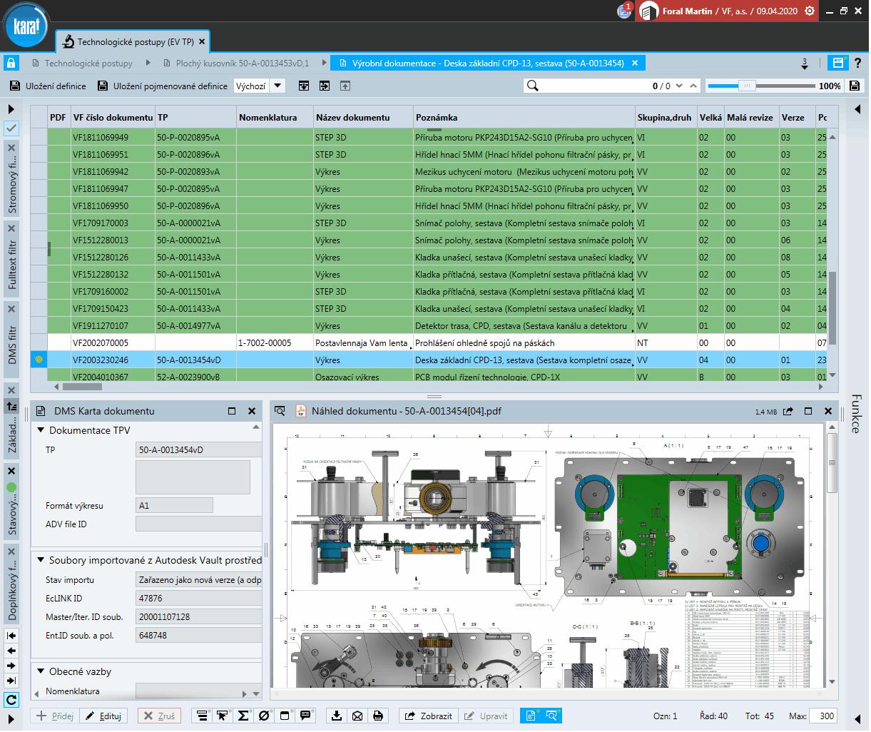 IS KARAT modul DMS – Náhled dokumentace