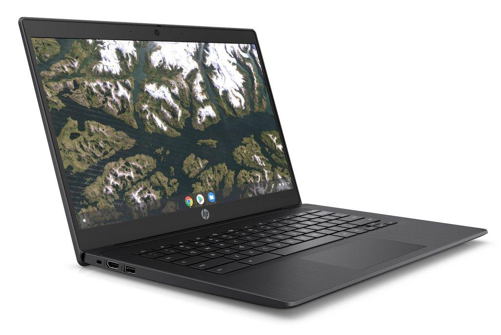 Základní model HP Chromebook Enterprise 14 G6 má otíratelnou klávesnici.