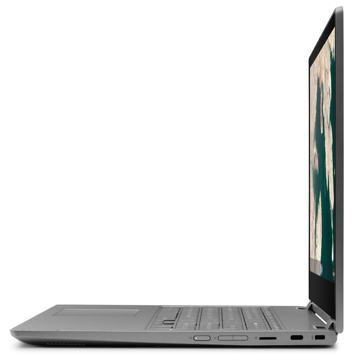Obr. 2: Chromebook C340 nabízí široké možnosti připojení. Dvojice USB-C, jeden standardní USB konektor, čtečka paměťových karet a jack pro připojení sluchátek. Vestavěná 802.11ac WiFi a Bluetooth 4.2 umožňují bezdrátové připojení.
