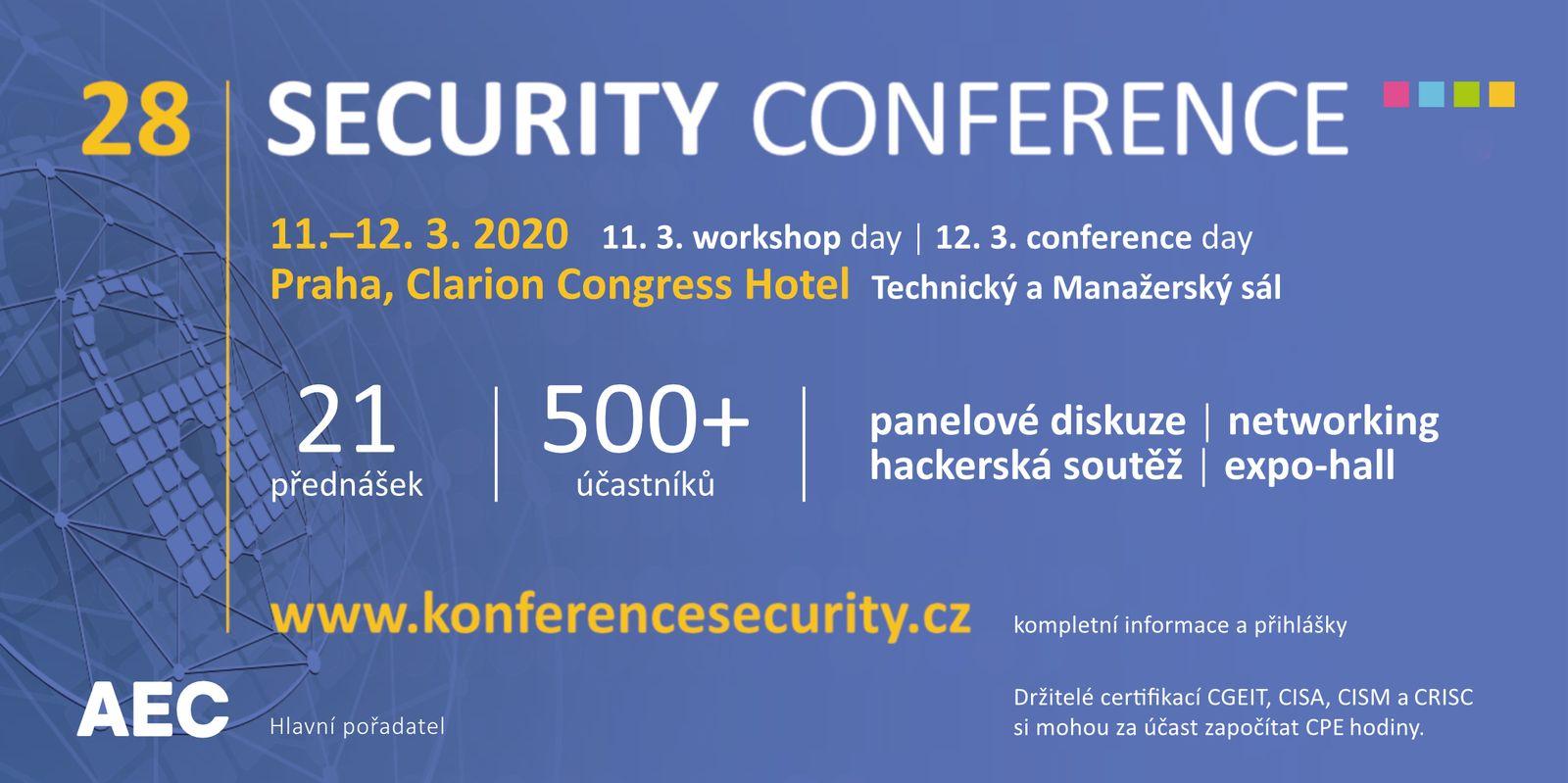28. Security Conference - pozvánka