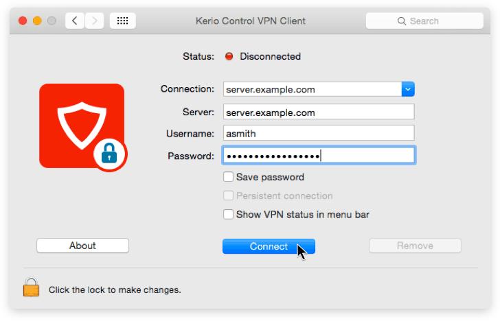 Kerio Control VPN Client